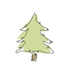 Hand drawn fir tree vector