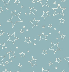 Hand drawn stars pattern vector