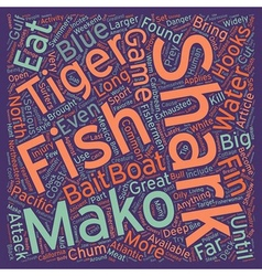 How to catch sharks text background wordcloud vector