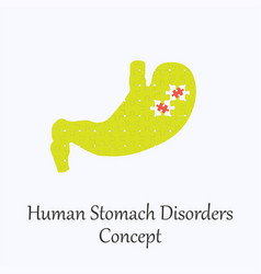 human stomach filled with puzzle pattern vector image