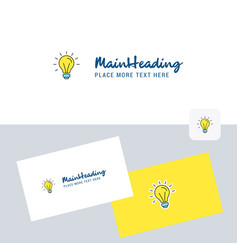 idea logotype with business card template elegant vector image