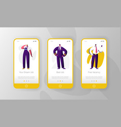 job profession vacancy character mobile app vector image