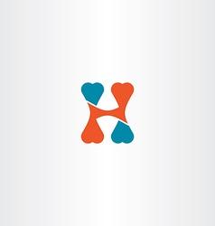 Letter h logo sign icon element symbol design vector