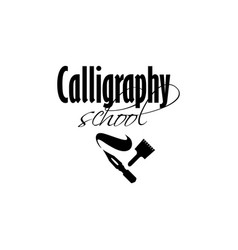 Lettering logo design template for calligraphy vector