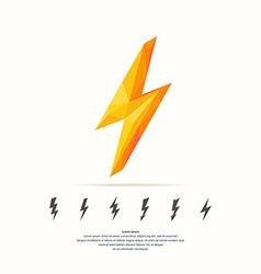 Lightning in polygonal style vector