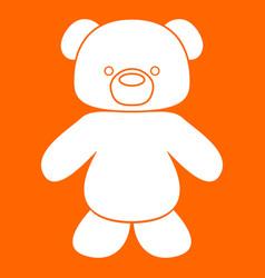 Little bear white icon vector