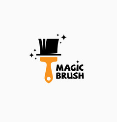 magic brush logo vector image