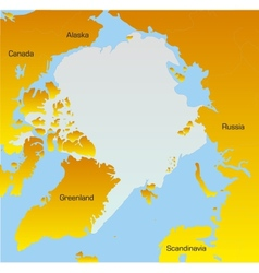 Map of North pole vector