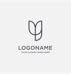 minimalist letter y logo icon template vector image