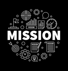 mission outline business vector image