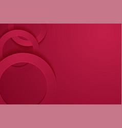 Modern maroon backgrounds 3d circle papercut vector