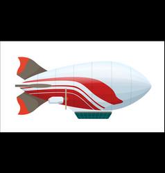 modern zeppelin isolated icon vector image