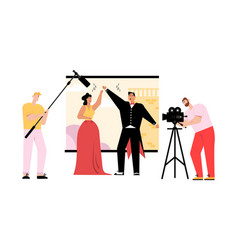 Musical movie or opera production concept vector