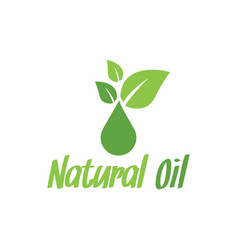 natural oil logo design inspiration vector image