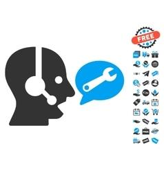 Operator Service Message Icon With Free Bonus vector