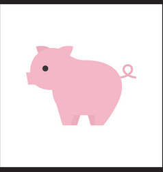 Pig icon side view flat design vector