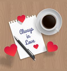 Quote allways in love vector