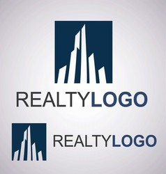 realty logo 1 2 vector image