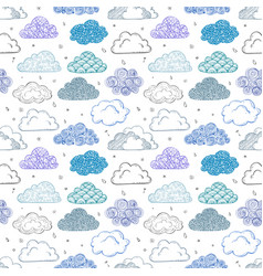 seamless background with blue and violet doodle vector image