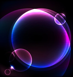 Shiny cosmic sphere background vector image