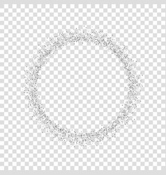 silver circle isolated white transparent vector image