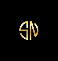 Sn logo initials modern logotype vector