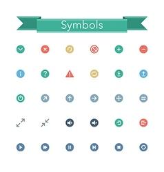 Symbols Flat Icons vector image