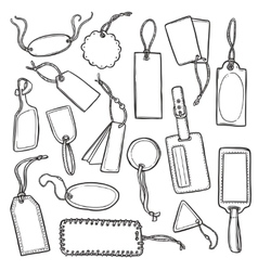 Tags Sketch Set vector image