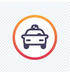 Taxi cab line icon vector