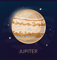 The planet jupiter vector