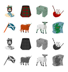 the state flag of andreev scotland the bull the vector image