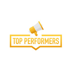 Top performers badge icon stamp logo vector