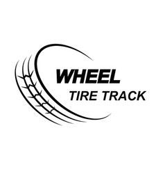 wheel tire track logo vector image