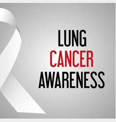 world lung cancer day awareness poster eps10 vector image