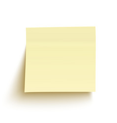 Yellow sticky note isolated on white background vector image