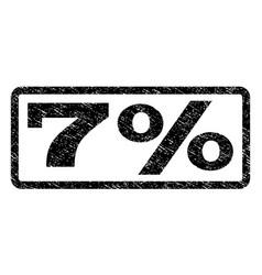 7 percent watermark stamp vector image vector image