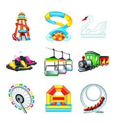 Attraction icons - set ii vector
