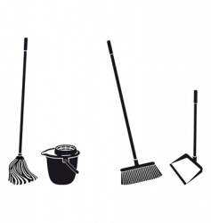 floor cleaning vector image vector image