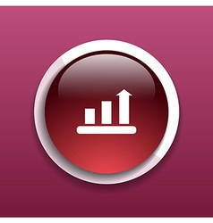 Infographic chart icon graph market business vector image vector image