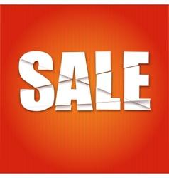 Lettering Sale dynamic background vector image
