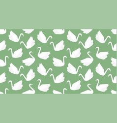 origami crane bird seamless pattern on green vector image vector image