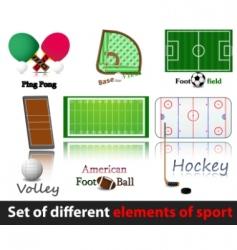 set of elements of sport vector image vector image
