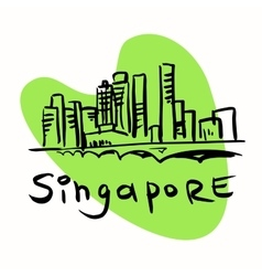 Singapore city vector image vector image