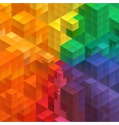 Abstract mosaic background from cubes vector image