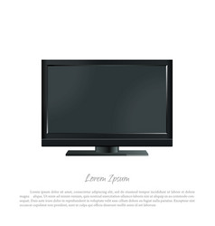 black pc monitor on a white background vector image