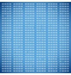 Blue binary computer code vector