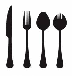 cutlery collection vector image vector image
