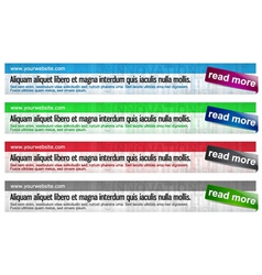 glossy web banners set vector image vector image