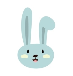 Gray easter rabbit bunny traditional symbol of vector image