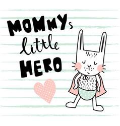 hero bunny vector image